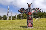 Photo First Nations Totem Pole Alert Bay British Columbia