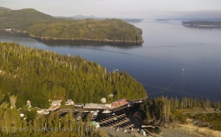 Vancouver Island Community Of Telegraph Cove Aerial
