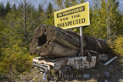 Photo: Funny Sign Vancouver Island