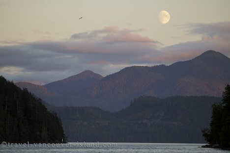 Photo: Moonrise Nootka Sound