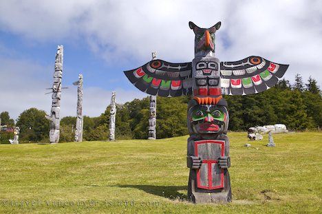 Photo: First Nations Totem Pole Alert Bay British Columbia